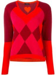 свитер с геометрическим узором  Twin-Set