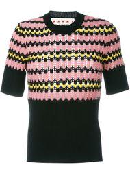 свитер с геометрическим узором  Marni