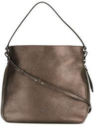 сумка на плечо с отделкой металлик Hogan