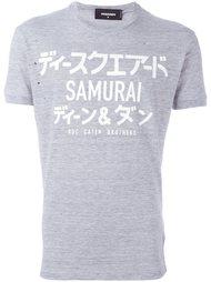 футболка с контрастным принтом  Dsquared2