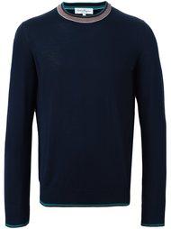 свитер с контрастной окантовкой  Salvatore Ferragamo
