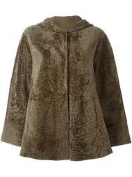 пальто с капюшоном и драпировкой на спине  Drome