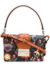 сумка на плечо с цветочным принтом   Red Valentino