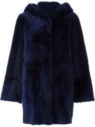 пальто с капюшоном и драпировкой Drome