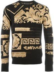 свитер с вышивкой барокко  Versace
