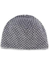 двухсторонняя шапка-бини с логотипом  Giorgio Armani
