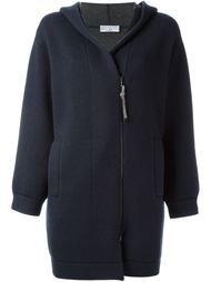 пальто на молнии с капюшоном Brunello Cucinelli