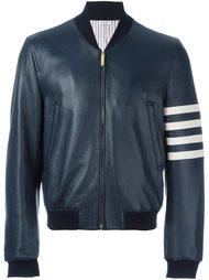 куртка с полосками на рукаве Thom Browne