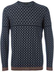 жаккардовый свитер Giorgio Armani
