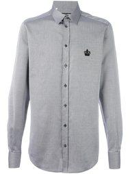 рубашка с вышивкой короны Dolce & Gabbana