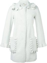 пальто из овчины со съемным воротником Fendi