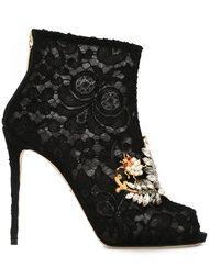 декорированные кружевные ботильоны Dolce & Gabbana