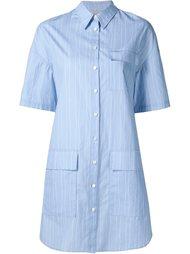 полосатое платье-рубашка с короткими рукавами Grey Jason Wu