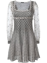 flared knit dress Alexander McQueen