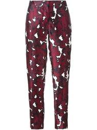 floral print trousers Oscar de la Renta