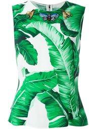 embellished banana leaf print top  Dolce & Gabbana