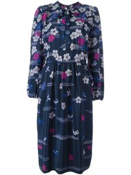 flower & bird print dress  Lanvin Vintage