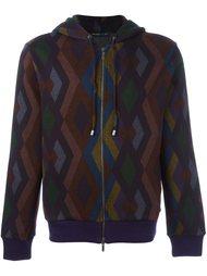 geometric print hoodie Etro