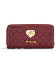 quilted continental wallet Love Moschino
