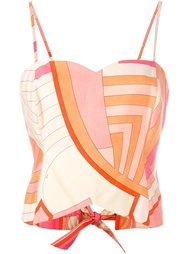 abstract print top  Emilio Pucci Vintage
