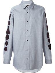 рубашка с нашивками на рукавах Off-White