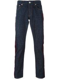 джинсы с полосатой аппликацией Alexander McQueen