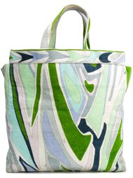 abstract print velvet tote  Emilio Pucci Vintage