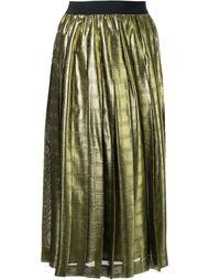 плиссированная юбка с отделкой металлик Muveil