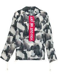 abstract print jacket Off-White