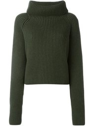 wide roll neck ribbed sweater Haider Ackermann