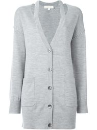 cut-out lapels cardigan Michael Kors