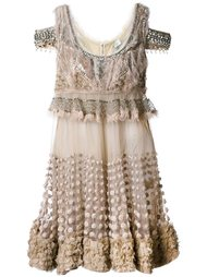 embellished cut-out sleeves dress Amen