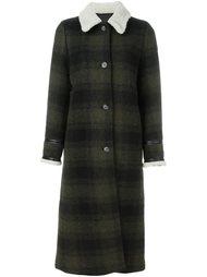 пальто в клетку Mm6 Maison Margiela
