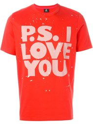 'P.S. I Love You' print T-shirt PS Paul Smith