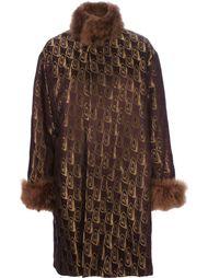 свободное пальто с мехом Jean Paul Gaultier Vintage
