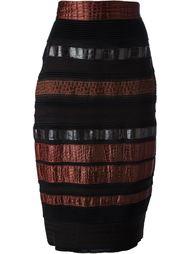 юбка-карандаш с контрастной отделкой Gianfranco Ferre Vintage