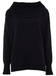 wide collar knitted sweater Maison Ullens