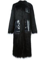 удлиненное пальто из искусственного меха  Mm6 Maison Margiela
