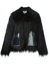 укороченное пальто из искусственного меха Mm6 Maison Margiela