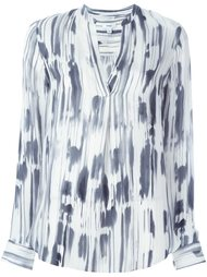 abstract print blouse Vince