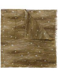 crinkled floral print scarf John Varvatos