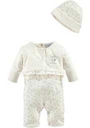 Комплект для новорожденного: комбинезон + шапка KLITZEKLEIN