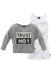 "Комплект кофточек ""TRUST NO 1"", 2 части Arizona"