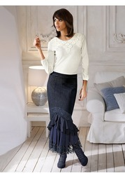 Джинсовая юбка Linea Tesini