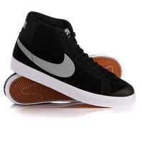 Кеды кроссовки высокие Nike Blazer Sb Premium Se Black/Base Grey