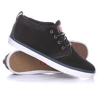 Кеды кроссовки высокие Quiksilver Griffin Suede Black/Blue/White