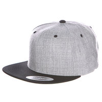 Бейсболка Yupoong Classic Snapback 2-Tone Heather Grey/Black