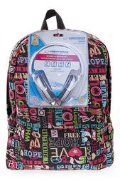 """Рюкзак """"Хиппи"""" с наушниками 3D BAGS"""