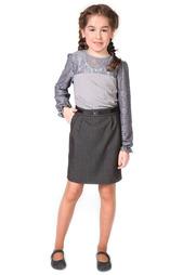 Блуза, гипюровый рукав 80-LVL
