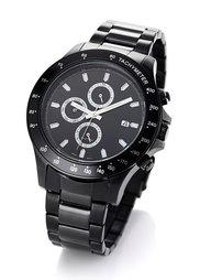 Мужские часы на металлическом браслете (серебристый) Bonprix